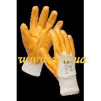 Перчатки рабочие нитриловые желтые V-V