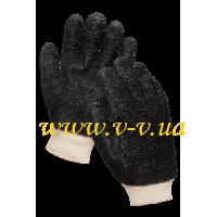 Перчатки рабочие МБС черные усиленные V-V