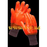 Перчатки рабочие МБС красные утепленные с мягким манжетом V-V