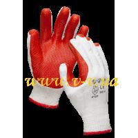 Перчатки рабочие латексные стекольщика красные V-V